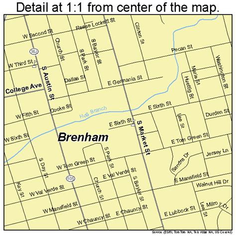map of brenham texas brenham texas map 4810156