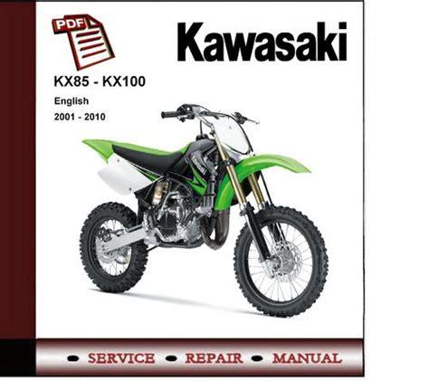 Free Kawasaki Kx85 Kx85 Ii Kx100 Complete Workshop