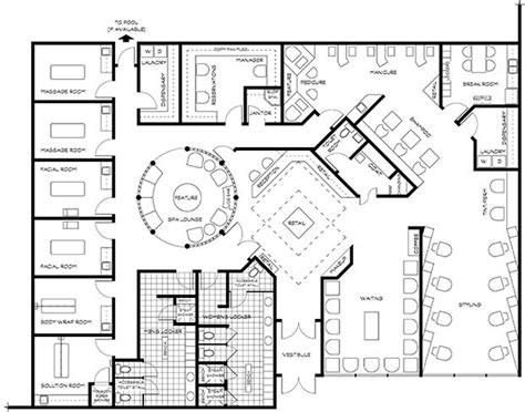 floor plan of spa spas