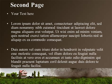 Tornado Powerpoint Template Backgrounds 09251 Poweredtemplate Com Tornado Powerpoint Template