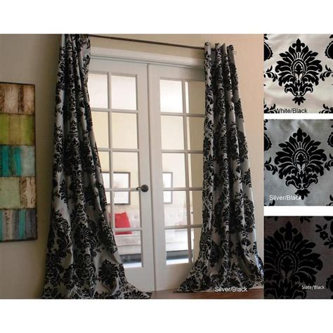 Venetian Faux Silk Grey And Black Grommet Top Curtain Panel