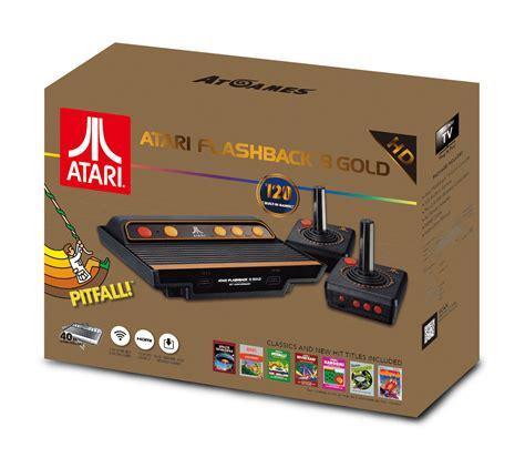 console atari atari flashback 8 gold console includes 120 atari 2600