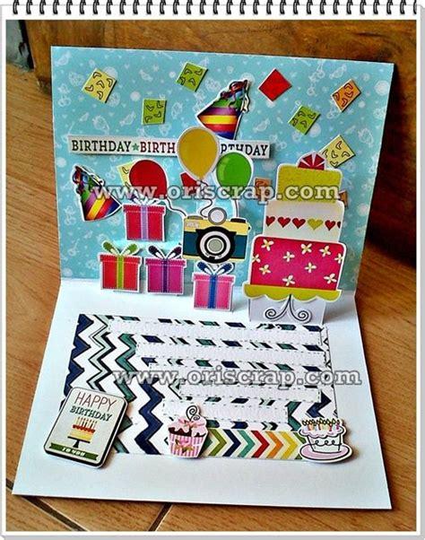 cara membuat kartu ucapan pop up ulang tahun kartu ucapan ulang tahun scrapbookindonesia