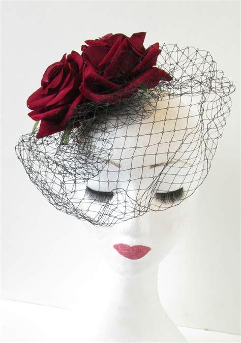 Vintage Wedding Hair Fascinators by Vintage Birdcage Veil Fascinator Headpiece