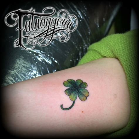 four leaf clover tattoo little stuff pinterest