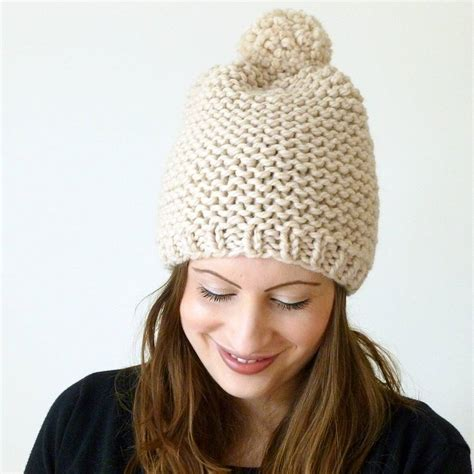 knit pom pom hat pattern knit pattern beanie beret pom pom hat for