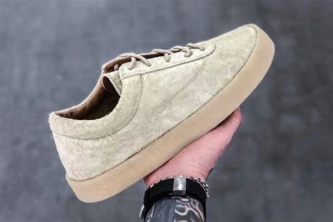 yeezy chalk thick snaggy suede crepe sneaker sneaker bar detroit