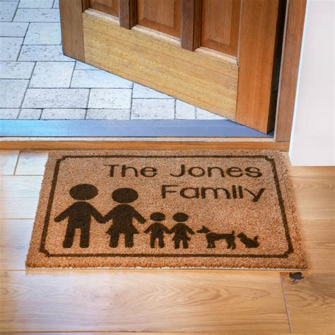Family Doormat personalised family doormat by laser made designs notonthehighstreet