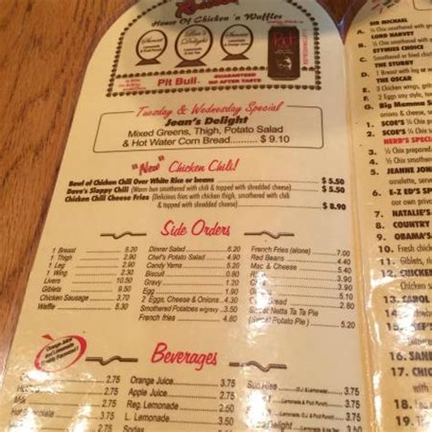 house of chicken and waffles roscoe s menu prices picture of roscoes house of chicken n waffles anaheim