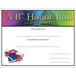a b honor roll certificate template free printable attendance certificate template