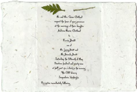 Handmade Paper Invitations - invitations from handmade paper wedding invitations custom