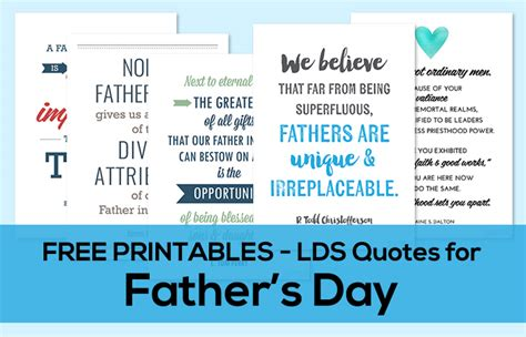 lds fathers day quotes free printables lds quotes for s day from