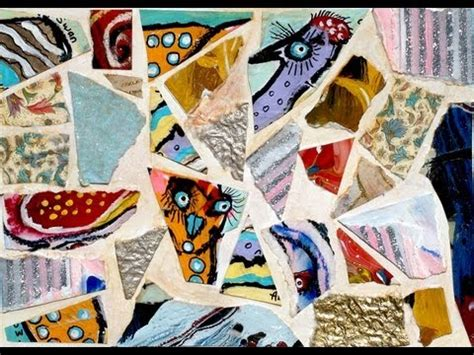 How To Make A Collage With Paper - how to make a paper mosaic collage