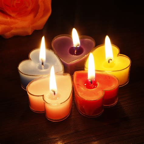 candle decoration at home free shipping heart tealights with clear plastic casing
