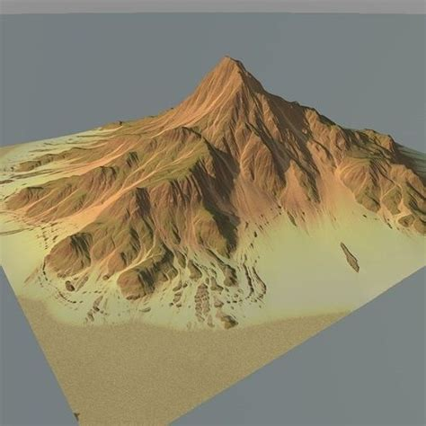 mountain models 3d model lowpoly mountain x1 vr ar low poly max obj