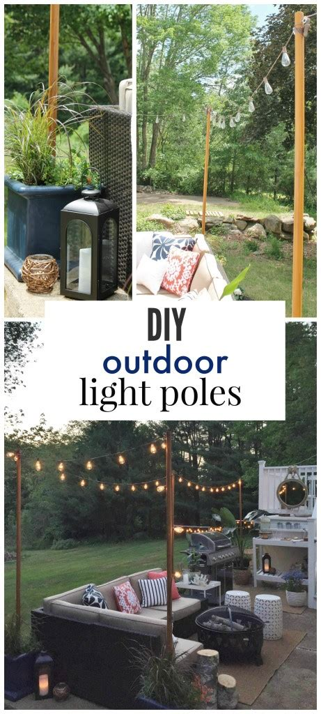 diy patio lights diy outdoor light poles city farmhouse