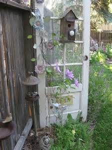 unique garden decor made with repurposed household goods