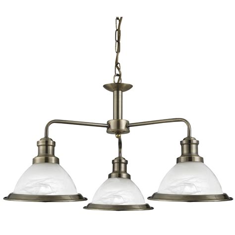 3 Light Ceiling Fitting by Bistro Antique Brass 3 Light Ceiling Fitting With Acid