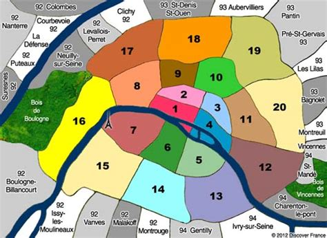 paris sections neighborhood maps of paris france