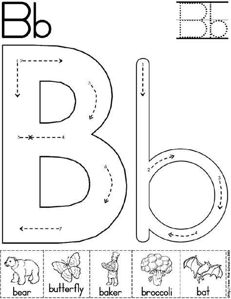worksheets for preschool letter b 6 best images of printable alphabet letter b worksheets