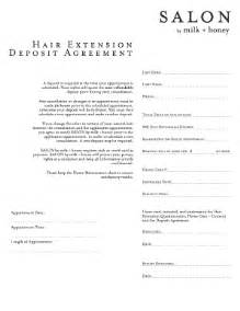 hair extension deposit agreement fill online printable