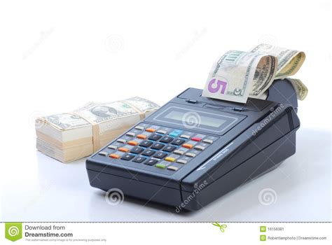Cash For Your Gift Card Machine - cash on credit card machine stock image image 16156381