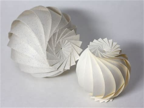 Paper Sphere Origami - origami sphere 16 flaps paper wedding