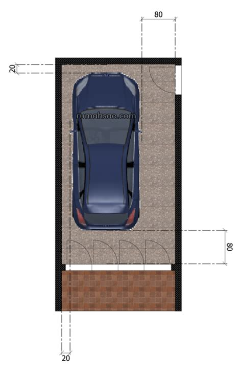 Desain Ukuran Garasi Mobil | ukuran minimal garasi mobil rumah sae