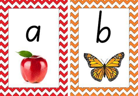 alphabet flash cards nsw font printable colourful alphabet display teach in a box