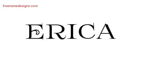 tattoo name erica erica archives free name designs
