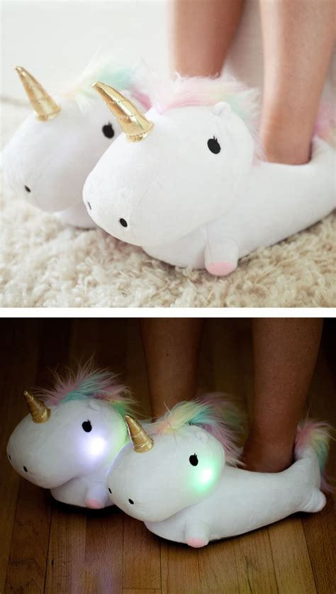light up unicorn slippers unicorn light up slippers gift christmas for the home