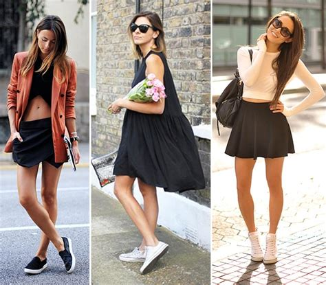 what to wear with running shoes 10 ways of wearing running shoes and sneakers with dresses