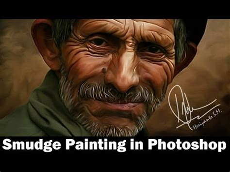 video tutorial smudge painting tutorial smudge painting di photoshop youtube