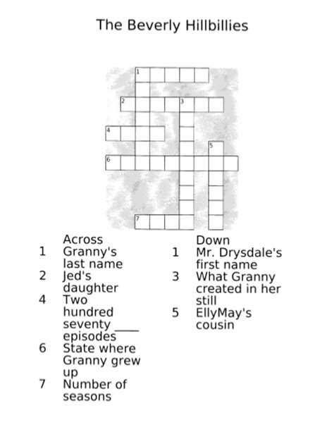 Painting E G Crossword by Gc4c8b0 05 Hab G Hillbillies Crossword Unknown