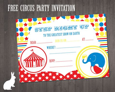 free printable circus party decorations free circus party invitation free party invitations by