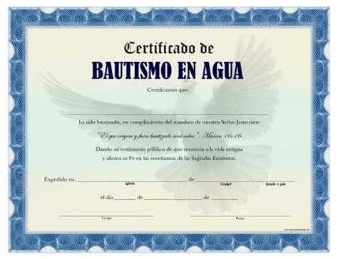 Certificado De Bautismo Template | certificado de bautismo en agua para imprimir gratis