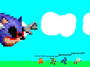 On add yourself running from giant sonic exe remix by supersonic507