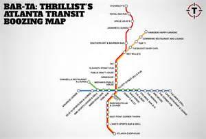 Atlanta Marta Map by Barta Or Bar Ta The Marta Map For All Bars In Atlanta