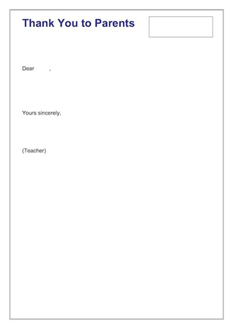 thank you letter to parents for their support thank you to parents letter excursion template
