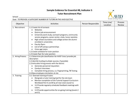Recruitment Plan Templates Template Business Recruitment Marketing Plan Template