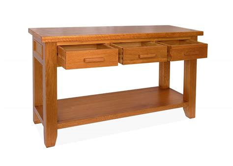 Console Tables With Drawers by Canterbury Oak Console Table With 3 Drawers