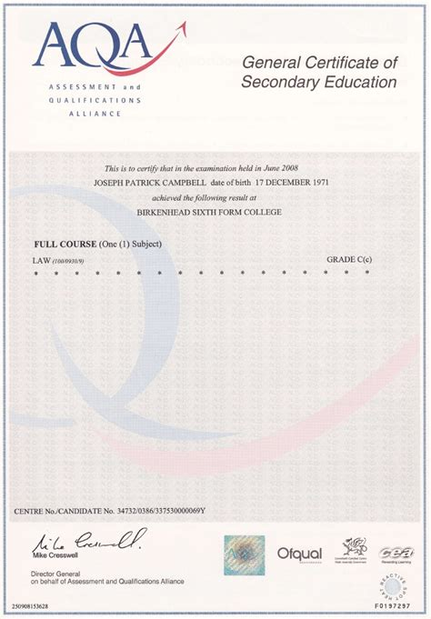28 gcse certificate template gcse law high quality