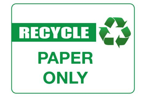 printable paper recycling sign printable recycle signs clipart best