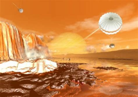 planet saturn surface on titan cassini huygens space science our