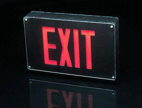 Led Exit Sign mule introduces series all weather vandal resistant cast aluminum led exit signs