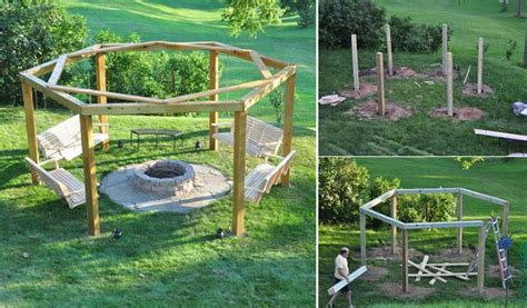 garden swing diy diy porch swing fire pit home design garden