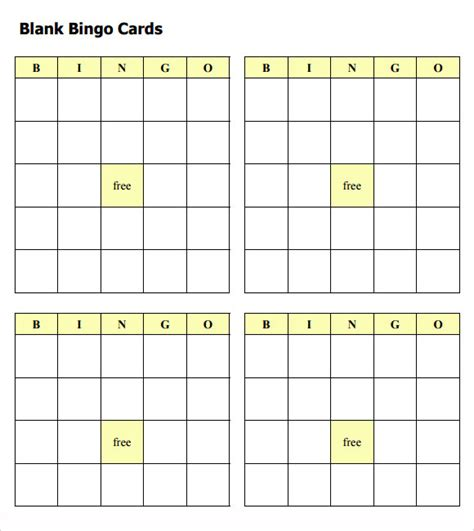 bingo cards templates blank bingo card template microsoft word template design