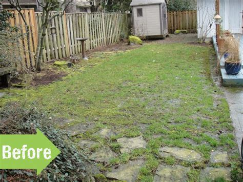 long backyard ideas before after path yard makeover flagstone narrow