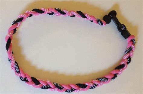 T01 218 Titanium Necklaces black and pink titanium germanium necklace dph custom pins