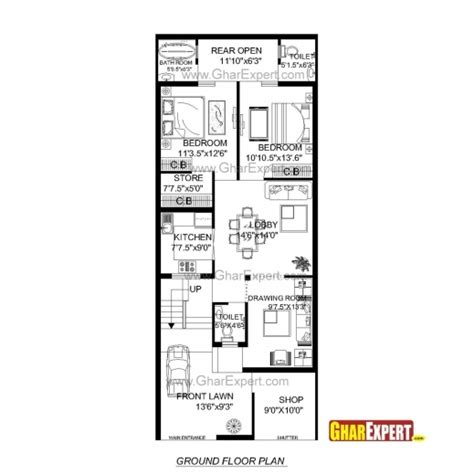 House Design 15 Feet By 60 Feet | 15 feet by 60 feet house plan house plan ideas house